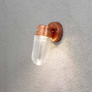 Konstsmide 413-900 Vega LED Aussen-Wandleuchte / 700lm, 3000K / massives Kupfer, klares Glas