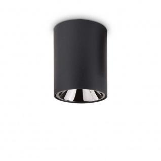 Ideal Lux LED Deckenleuchte Nitro 15W Rund Schwarz 205984