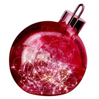 Weihnachtskugel Ornament 30cm Rot mit Lichterkette Batterie