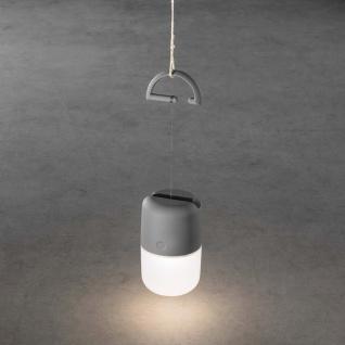 LED Solarleuchte Assisi zum Hängen oder Hinstellen Grau Solar Gartenlampe Gartenleuchte - Vorschau 3
