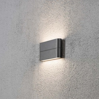 Konstsmide 7973-370 Chieri LED Aussen-Wandleuchte Anthrazit opales Acrylglas