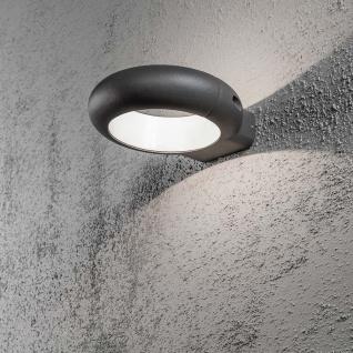 Konstsmide 7950-370 Rovigo LED Aussen-Wandleuchte Anthrazit opales Acrylglas