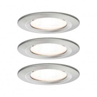 Paulmann Einbauleuchten-Set Nova rund starr LED IP44 3-stepdim 3x6, 5W 230V GU10 51mm Eisen geb/Alu Zin 93476