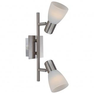 Globo 54534-2 Parry I Strahler Nickel-Matt 2xE14 LED