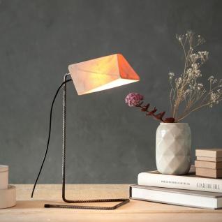 Almleuchten S4 massive Tischleuchte aus Altholz Braun Tischlampe aus Holz