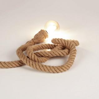 Rope Seil-Tischleuchte mit Fassung 200cm Braun Seil-Tischlampe