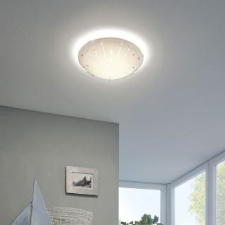 Eglo 96113 Margitta 1 LED Deckenleuchte Kristall 950lm Weiß Weiß Klar
