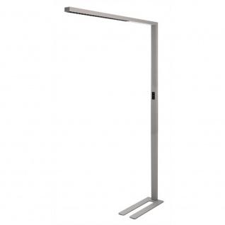 LED Büro Stehleuchte Motion 9600lm Präsenzmelder & Tageslichtsensor Silberfarben