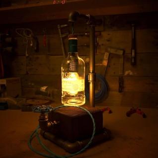 Licht-Trend Design-Tischlampe Toma handgeschmiedet mit Tobermory Whisky-Flasche