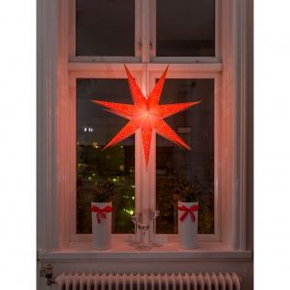 Konstsmide 2982-185 Oranger Papierstern perforiert und orange bestickt 7 Zacken inkl. Anschlusskabel mit an/aus Schalter ohne Leuchtmittel E14 Lampenhalterung für Innenbereich