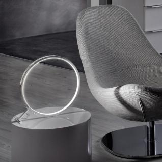 s.LUCE Q-Ring LED Tischleuchte ?30cm Chrom Tischlampe LED-Ringleuchte