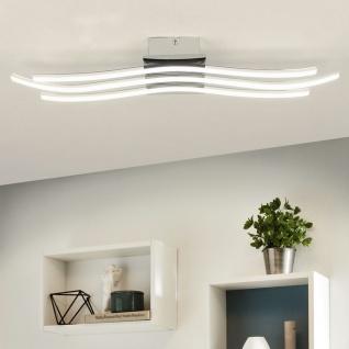 Licht-Trend Cortes LED-Deckenleuchte 60x14cm Kristalle Chrom LED-Deckenlampe