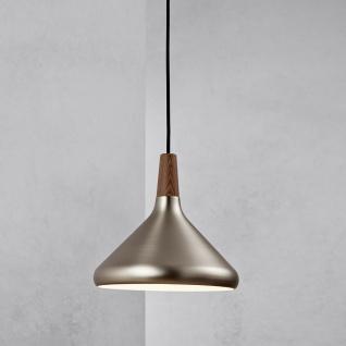 Licht-Trend Pinzantero 3 Stahl-Pendelleuchte Walnuss-Holz Restaurant- & Hotelbeleuchtung
