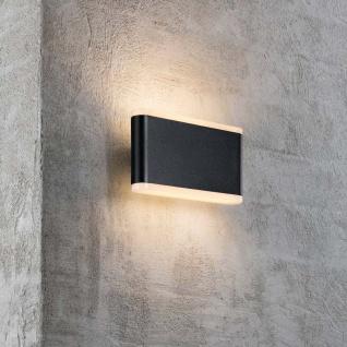Nordlux LED Aussen-Wandlampe Akron 17 IP54 Schwarz, Opal Weiß