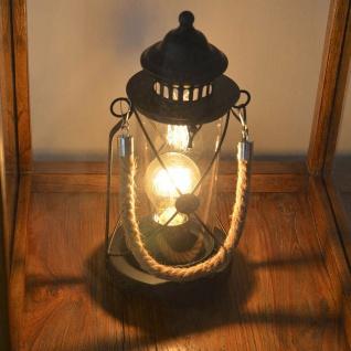 Licht-Trend Company Retro Tischleuchte im Vintage-Stil Tischlampe Deko-Laterne