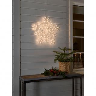 LED Acryl Schneeflocke mit 8 Funktionen 90 Warmweiße Dioden 24V Außentrafo