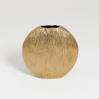 Holländer 288 3509 Dekovase Scudo Oval Piccolo Aluminium Gold