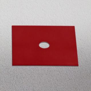 s.LUCE Dekoplatte Rot passend zu Beam 12 x 12cm Zubehör Innen
