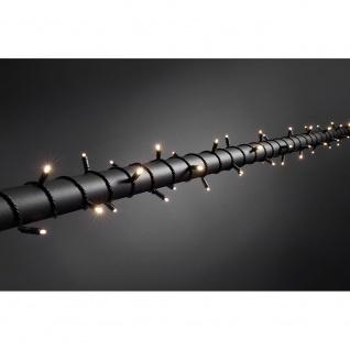 Micro LED Lichterkette mit 9h Timer IP67 120 Warmweiße Dioden 24V Außentrafo schwarzes Soft-Kabel