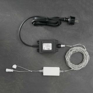 Konstsmide 4600-003 LED System Anschlusskabel für 1040 Dioden / 100 Meter, 24V Außentrafo. 60 VA , schwarz/transparentes Kabel