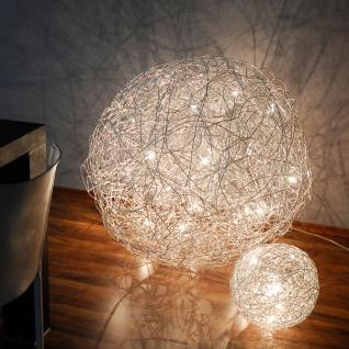 s.LUCE Mesh XXL LED Drahtkugel Hängeleuchte Ø 90 cm / Hängelampe LED Pendellampe