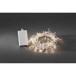 LED Lichterkette Timer mit 8 Funktionen und Memoryfunktion 128 Warmweiße Dioden batteriebetrieben für Aussen