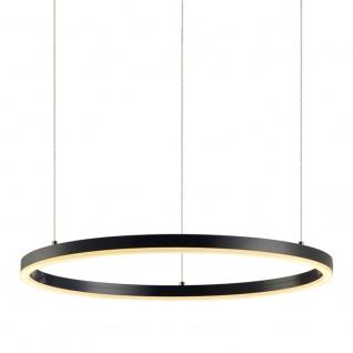 s.LUCE LED-Hängelampe Ring XL Ø 100cm Dimmbar Schwarz Hängelampe Ringleuchte