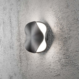 Konstsmide 7948-370 Matera LED Aussen-Wandleuchte Anthrazit opales Acrylglas