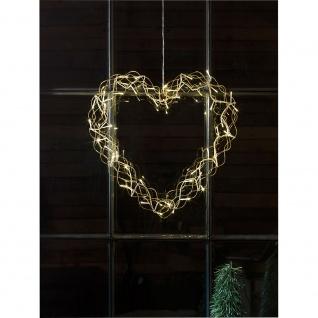 LED Metallsilhouette Herz goldfarben 48 Warmweiße Dioden 24V Innentrafo