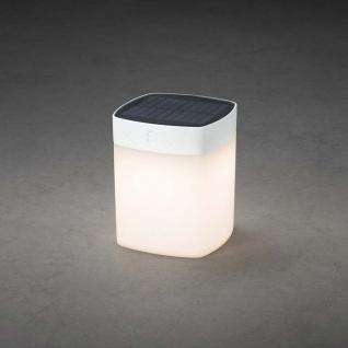 Assisi Solar LED Leuchte Weiß, opales Acrylglas Solar Gartenlampe Gartenleuchte