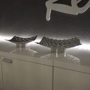 s.HOME Barrow L Design Aluschale 25 x 25cm Alu-Matt Dekoschale Obstschale