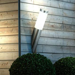 Boston Edelstahl Wand-Aussenleuchte mit Zylinder 40cm Wandlampe Aussen