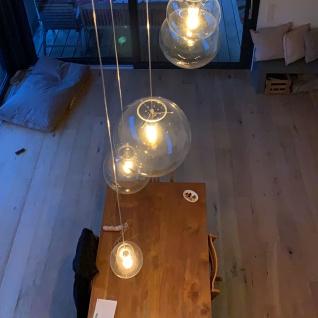 s.LUCE Orb 40 Glas-Pendelleuchte Kugel Klar Schwarz Pendellampe Glaslampe