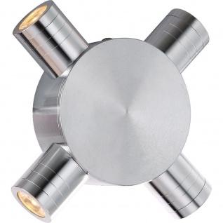 Globo 7604 Gordon Wandleuchte Aluminium gebürstet 4xLED