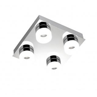 Wofi Luce LED Deckenleuchte 4-flammig Chrom 9502.04.01.0044