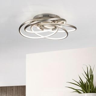 Globo 67828-40 Barna LED-Deckenleuchte mit Dimmfunktion Nickel-Matt Deckenlampe dimmbar