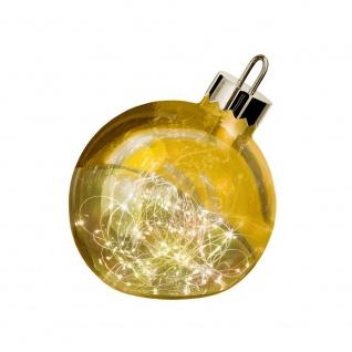 Weihnachtskugel Ornament 20cm Goldfarben mit Lichterkette