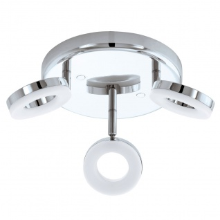 Eglo 94762 Gonaro LED Spot 3 x 38 W Stahl Chrom Kunststoff Weiss