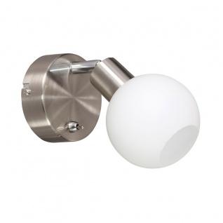 Wofi Nois LED Wandleuchte Nickel matt Strahler Spots