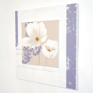 Holländer 273 3112 Wandbild Sezione Leinwand-Holzrahmen Weiss-Beige-Violett