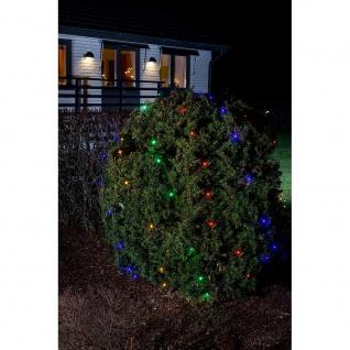 LED Lichternetz 64 bunte Dioden 24V Außentrafo