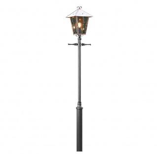 Konstsmide 430-900 Fenix Leuchtenkopf für Mastleuchte massiver Kupfer rauchfarbenes Acrylglas
