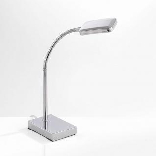 LeuchtenDirekt 11240-17 Wella LED Flex Tischleuchte + Schalter 4, 20W 3000K Chrom