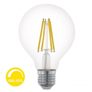 E27 LED Retro Ø 8cm Dimmbar 6W, 806lm Warmweiß