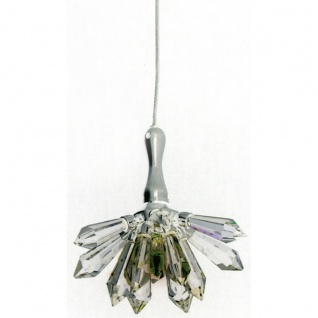 Holländer 162 K 1512 Pendelleuchte Serenata Fiore Metal verchromt-Kristallglas Silber-Klar