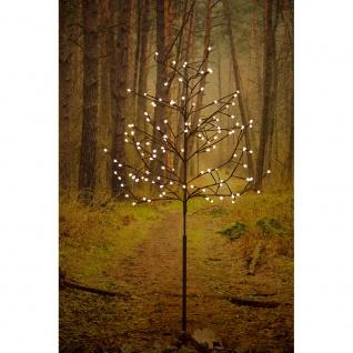 LED Lichterbaum groß braun runde Dioden 120 Warmweiße Dioden 24V Außentrafo braunes Kabel
