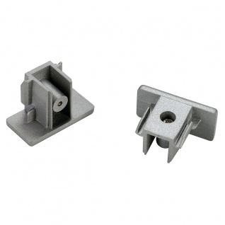 SLV Endkappen für 1-Phasen HV-Stromschiene Aufbauversion silbergrau 2 Stück 143132