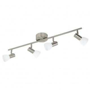 Eglo 93859 Glossy 1 LED Spot 4-flammig Weiß Lackiert Nickel-Matt