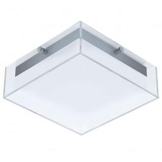 Eglo 94874 LED Glas Aussen-Wand- & Deckenleuchte Infesto 820lm Silber