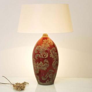 Holländer 057 K 1217 Tischleuchte Toulouse Keramik Glasiert Rot-Schlamm